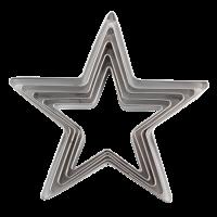 Kovinski modelčki za izrezovanje, Ø32 - 67 mm, zvezde, 5 modelov