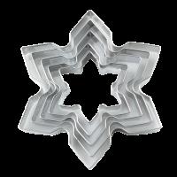 Kovinski modelčki za izrezovanje, Ø47 - 110 mm, ledeni kristali, 5 modelov