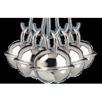 Kraguljček, srebrn, 11 mm, 5 kosov