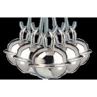 Kraguljček, srebrn, 15 mm, 5 kosov