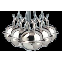 Kraguljček, srebrn, 19 mm, 5 kosov