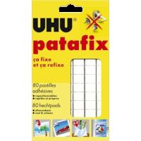 Lepilne blazinice UHU Tac Patafix, bele, 80 kosov