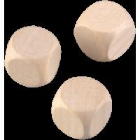 Lesena kocka, 25 mm, 1 kos