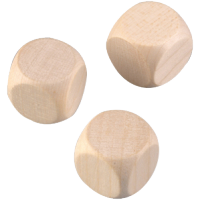 Lesena kocka, 40 mm, 1 kos