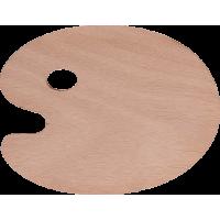 Lesena paleta za mešanje barv, 24 x 30 cm