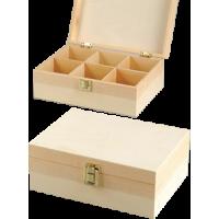 Lesena škatla za shranjevanje, 23.5 x 17 x 9 cm