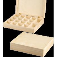 Lesena škatla za shranjevanje, 25 x 20 x 5.5 cm