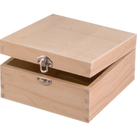 Lesena škatlica, 10 x 10 x 5.5 cm