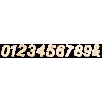 Lesena številka ali simbol, 40 x 2 mm