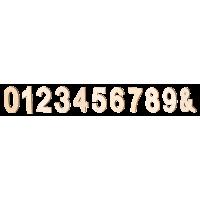Lesena številka ali simbol, 80 x 5 mm