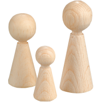 Lesene figurice 15 x 36 mm, 6 kosov