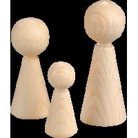 Lesene figurice 20 x 50 mm, 4 kosi