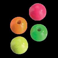 Lesene kroglice NEON, Ø6 mm, luknjica 2 mm, 65 kosov