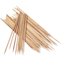 Lesene palčke, 20 cm, Ø2 mm, 10 kosov