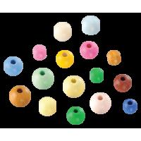Lesene perle, okrogle, mešane, 25 g