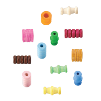 Lesene perle, različnih oblik, mešane, 28 perl