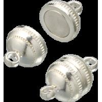 Magnetni spojni komplet, srebrn, krogla Ø8 mm, 1 kos