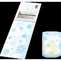 Mini namizna svetilka, Ø8cm, ledeni kristali, 5 listov (10 x 27 cm)