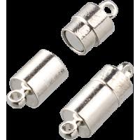 Močan magnetni spojni komplet, srebrn, valj 20 mm, 1 kos