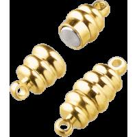 Močan magnetni spojni komplet, zlat, oliva 20 mm, 1 kos