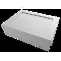 Mozaik šatulja, pravokotna, bela, 20 x 15 x 6 cm