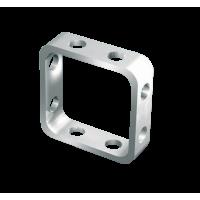 Nakit FIMO, kvadratna osnova, ca. 10 x 10 mm, 4 kosi