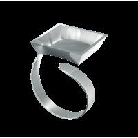 Nakit FIMO, prstan s kvadratno osnovo, 1 kos