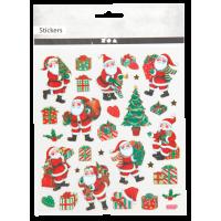 Nalepke, 15 x 16.5 cm, Božični motivi, približno 29 nalepk