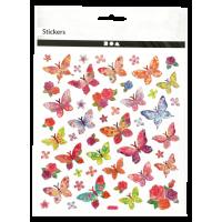 Nalepke, 15 x 16.5 cm, metulji, približno 28 nalepk