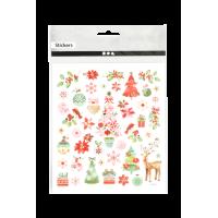 Nalepke, 15 x 16.5 cm, romantični Božič, približno 30 nalepk