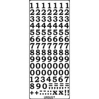 Nalepke, črne, 10 x 23 cm, številke