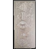 Nalepke, srebrne, 10 x 23 cm, Božič 2