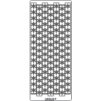 Nalepke, srebrne, 10 x 23 cm, bordure, snežinke