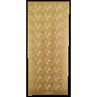 Nalepke, zlate, 10 x 23 cm, poročni prstani