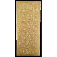 Nalepke, zlate, 10 x 23 cm, poročni zvonovi