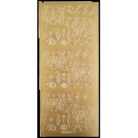 Nalepke, zlate, 10 x 23 cm, poroka