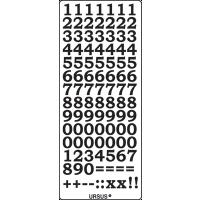 Nalepke, zlate, 10 x 23 cm, številke