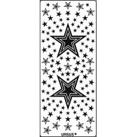 Nalepke, zlate, 10 x 23 cm, zvezdice 2