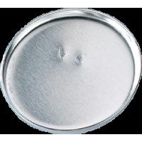 Osnova za broško 36 mm, srebrna, okrogla