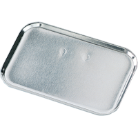 Osnova za broško 50 x 32 mm, srebrna, pravokotna