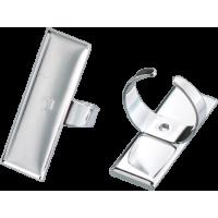 Osnova za prstan 12 x 35 mm, pravokotna, srebrna