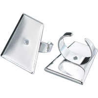 Osnova za prstan 22 x 15 x 29 mm, trapezna, srebrna