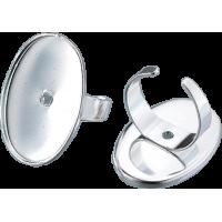 Osnova za prstan 22 x 32 mm, ovalna, srebrna