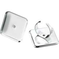 Osnova za prstan 29 x 29 mm, kvadratna, srebrna