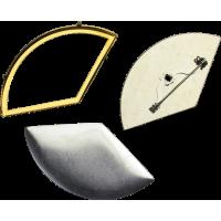 Osnova za SB, krožni izsek 62 x 34 mm