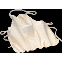Otroški predpasnik z žepom iz bombaža, 60 x 50 cm, naraven