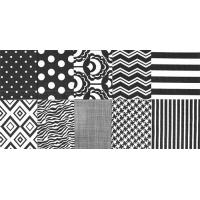 Pap. serviete, črno-beli vzorci, 10 serviet