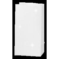 Papirnata vrečka, 150 g, 6 x 9 x 17 cm, glitter bela
