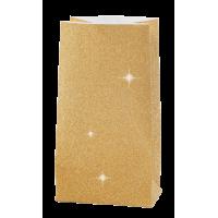 Papirnata vrečka, 170 g, 6 x 9 x 17 cm, glitter zlata