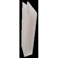Papirnate vrečke, 75 g, 0.5 kg, 8 x 28 + 5 cm, bele, 10 kosov